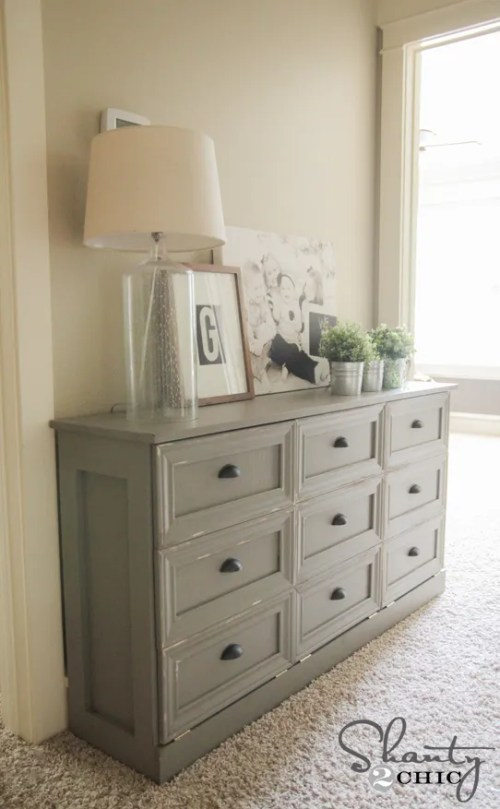 Laundry Basket Console Table