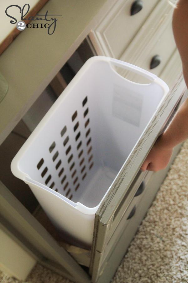 DIY Laundry Basket Dresser  Shanty 2 Chic