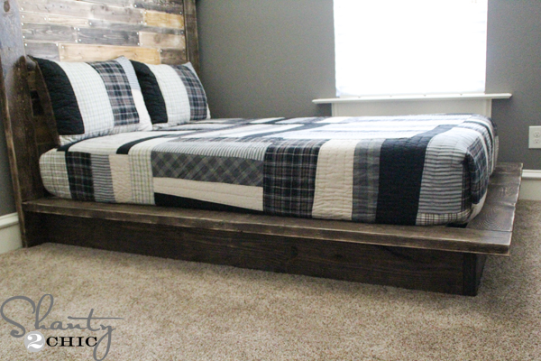 Easy Diy Platform Bed Shanty 2 Chic, How To Build A Platform Queen Bed