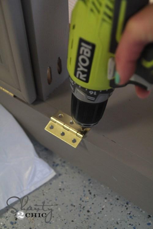drill attaching hinge