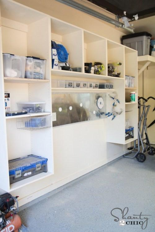 DIY Garage Wall Storage Unit