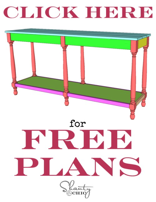 Print FREE Plans Turned Leg Console Table