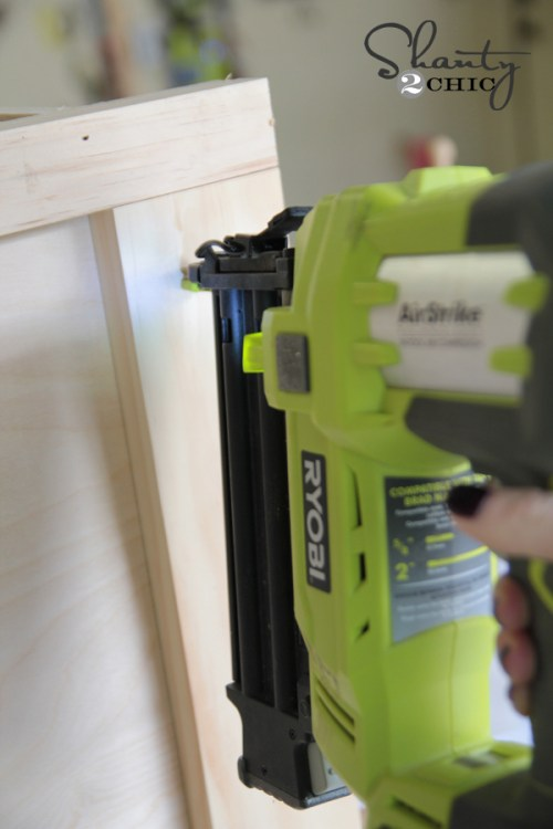 Attaching Trim with Brad Nailer