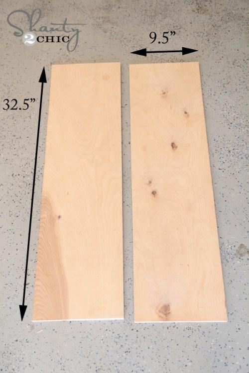 Plywood for floating shelves
