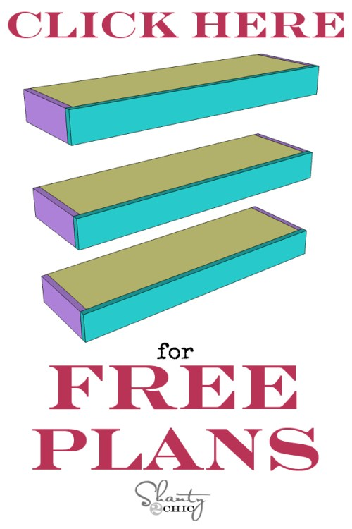 Print Floating Shelves Free Plans