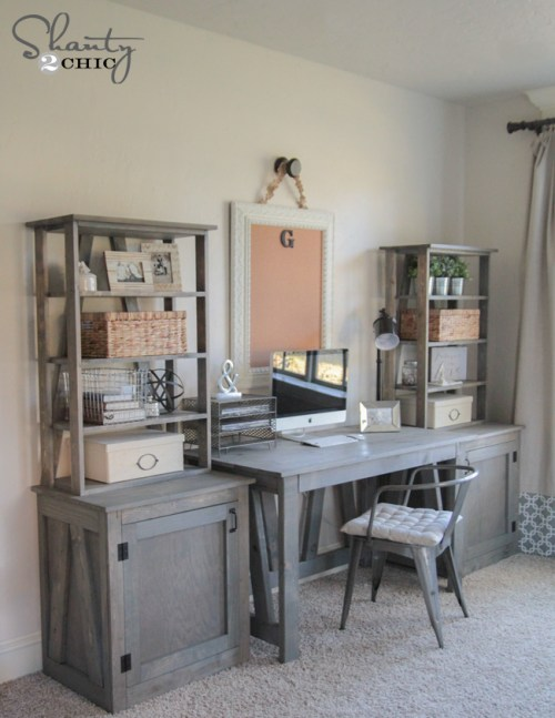 DIY Desk Free Woodworking Plans