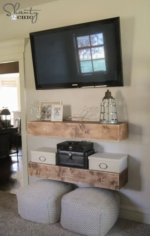 Media Shelves - Free Woodworking Plans