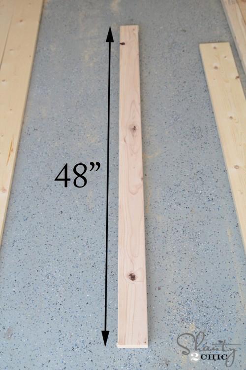 wood for media shelf