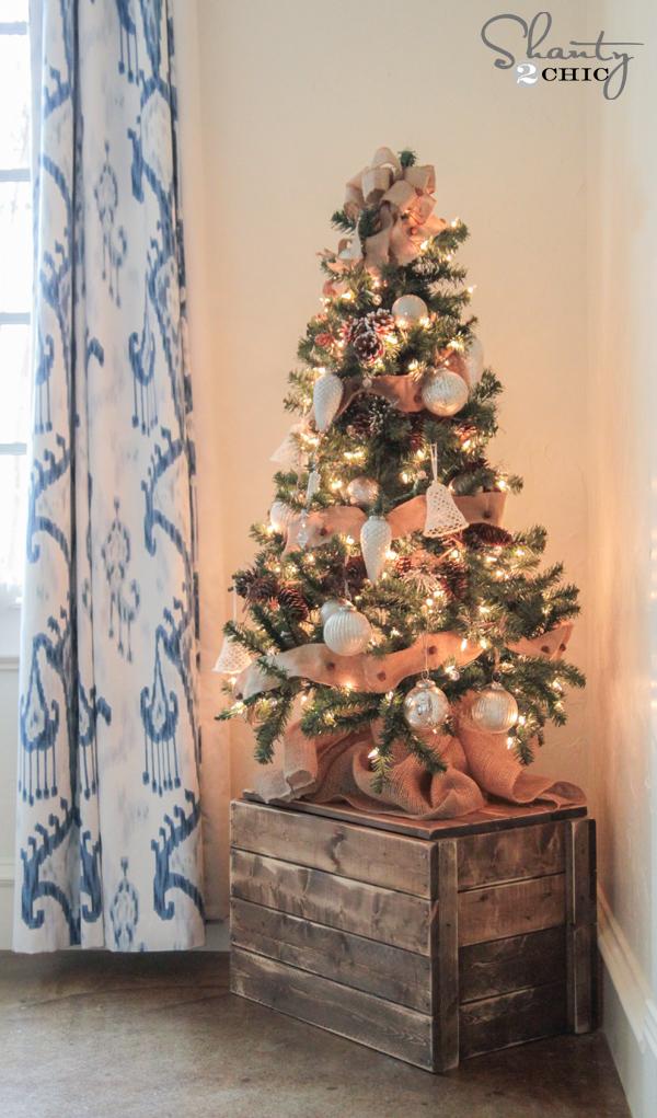 DIY Christmas Tree Crate  Shanty2Chic  Bloglovin