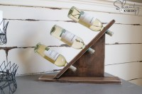 DIY Wine Bottle Holder - Shanty 2 Chic
