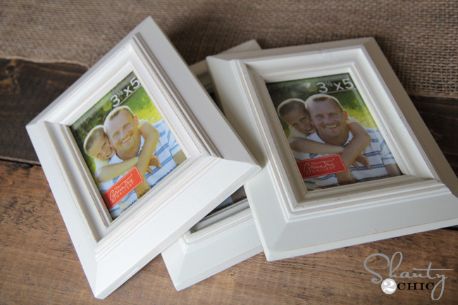 Distressed White Frames from Hobby Lobby