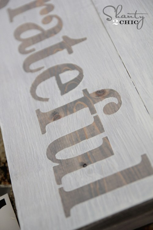 Making a sign