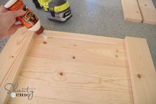Wood Glue on DIY Sign