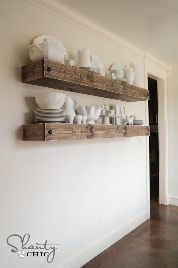 Outstanding Diy Floating Shelf Plans For The Dining Room Shanty 2 Chic Home Remodeling Inspirations Gresiscottssportslandcom
