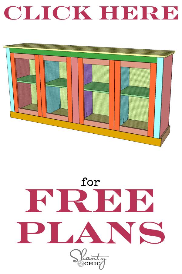 Print Sideboard Free Plans