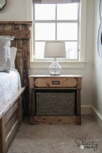 DIY Nightstands Free Woodworking Plans - Shanty 2 Chic