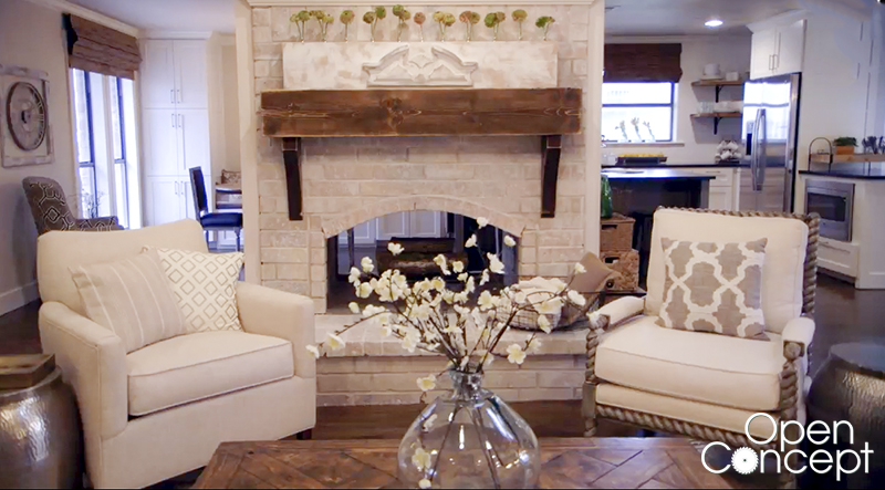 Open Concept on HGTV Fireplace