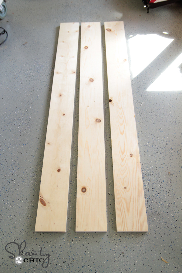 Pine boards for top