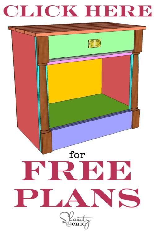 Print Free Plans DIY Nightstand