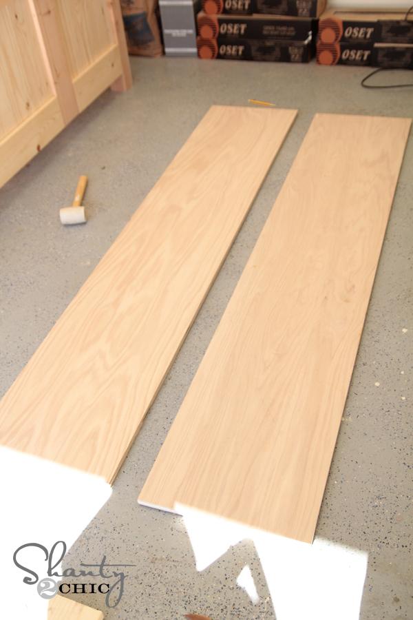 Side rails plywood