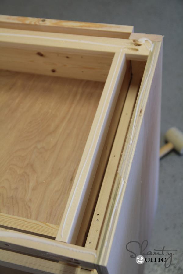 glue top of nightstand