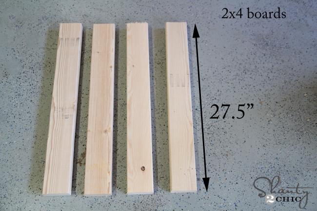legs of sawhorse table