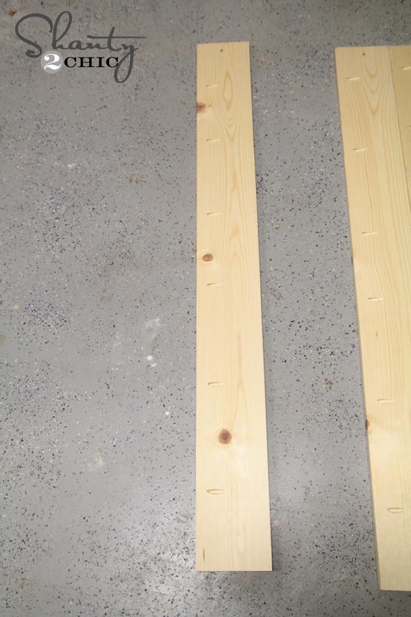 wood board for headbord