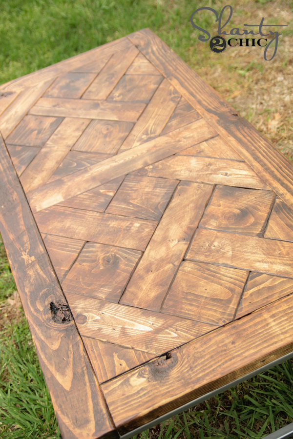 DIY Patterned Wood Tabletop