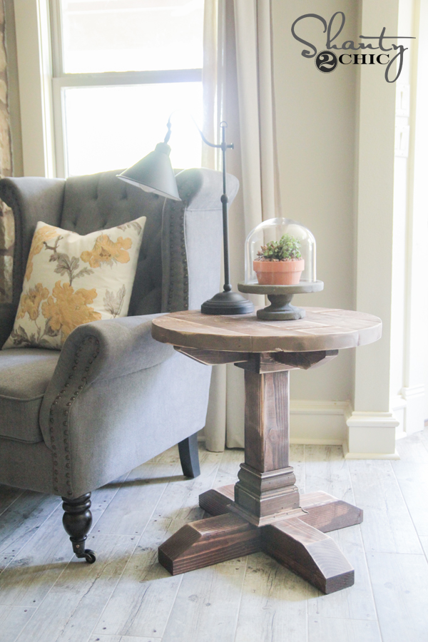 DIY Round Side Table - Free Plans