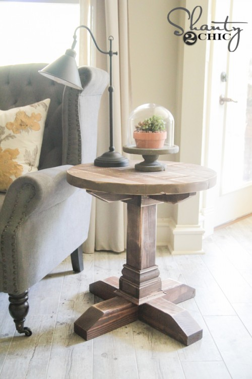 diy living room side tables modern sofa for small round table shanty 2 chic