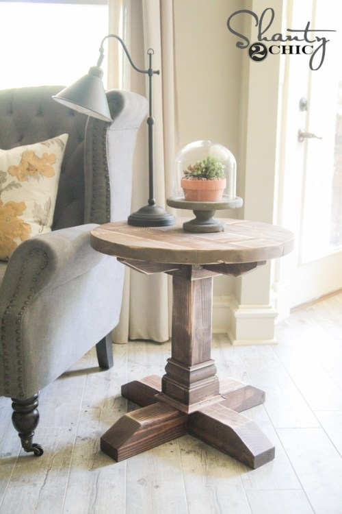 Free Plans - DIY Round Side Table