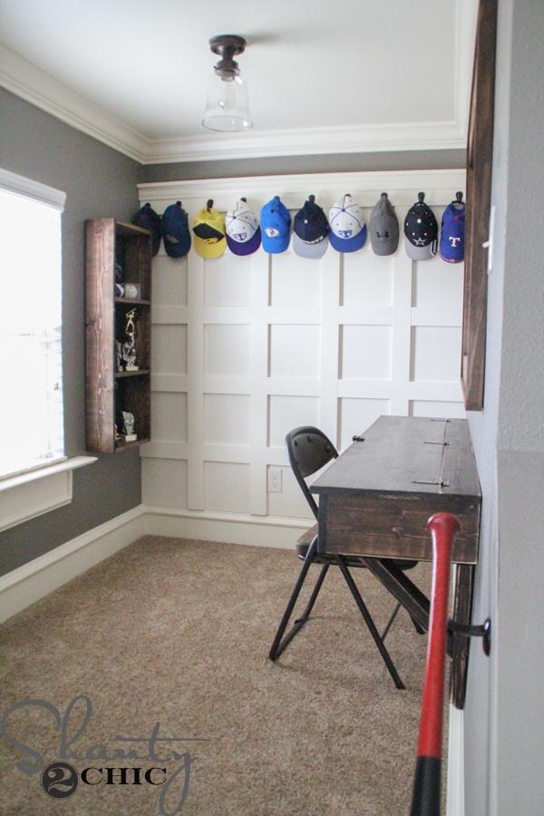 DIY Board and Batten Hat Rack  Shanty 2 Chic