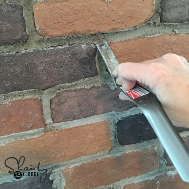 How to mortar on brick