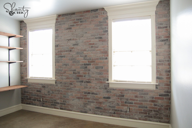 Thin Brick Wall Tutorial by Shanty2Chic