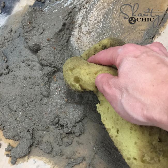 water down mortar