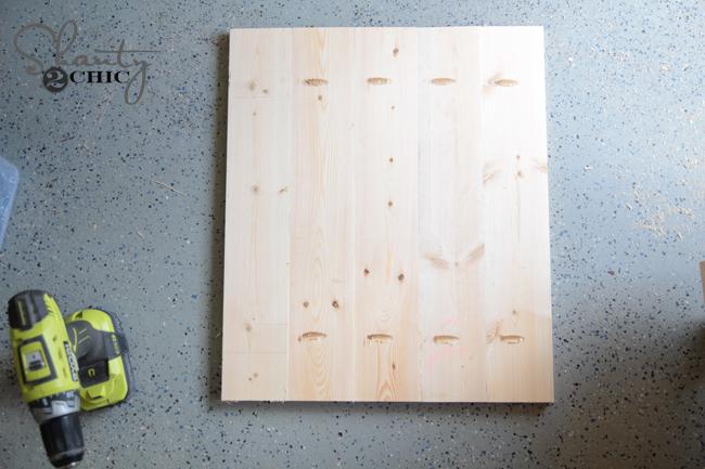 Attach door planks