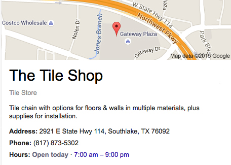 tile shop southlake