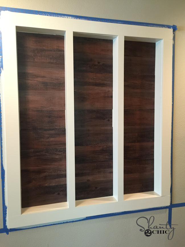 vinyl wood on wall