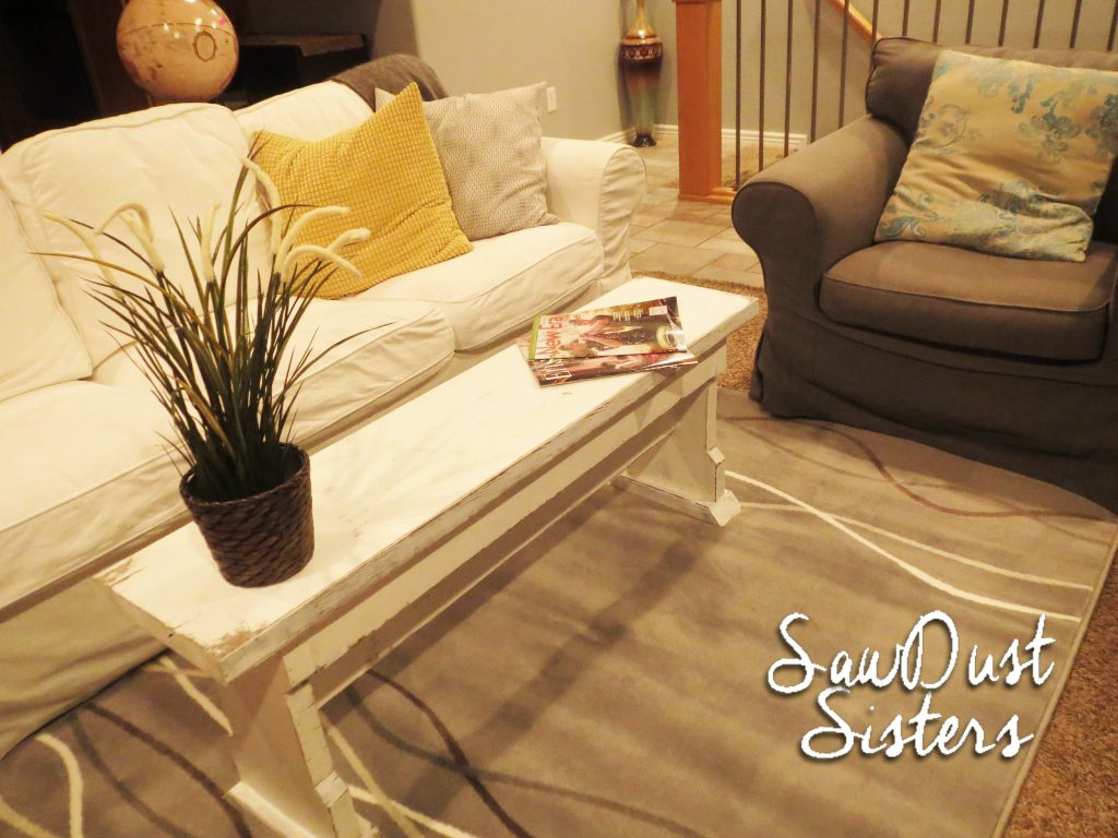 Diy Narrow Coffee Table Or Country Bench Tutorial Shanty 2 Chic