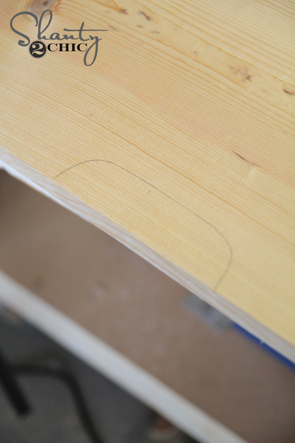 Draw lines for drawer pulls