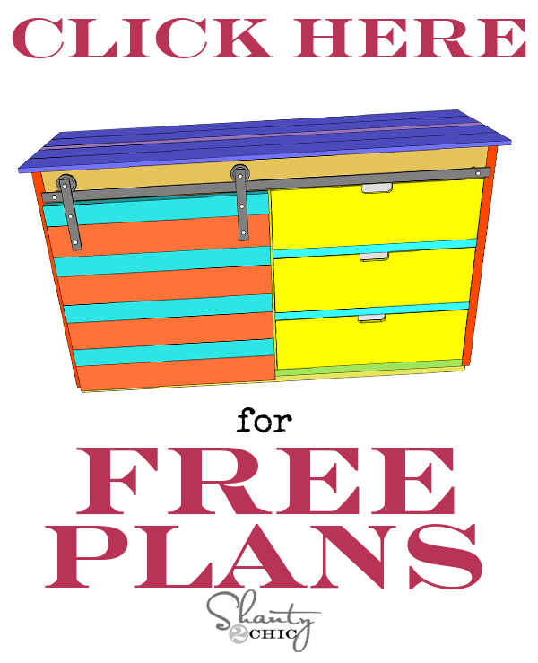 Free Plans Console with Sliding Barn Door