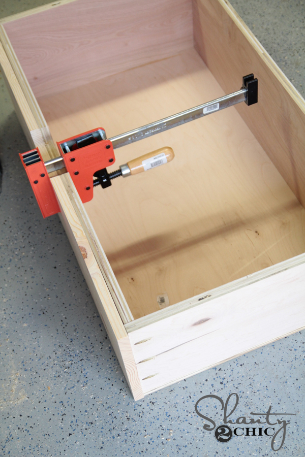 clamp drawer front