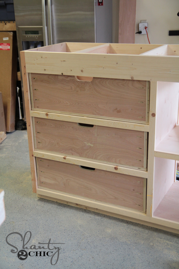 drawers before attaching drawer fronts