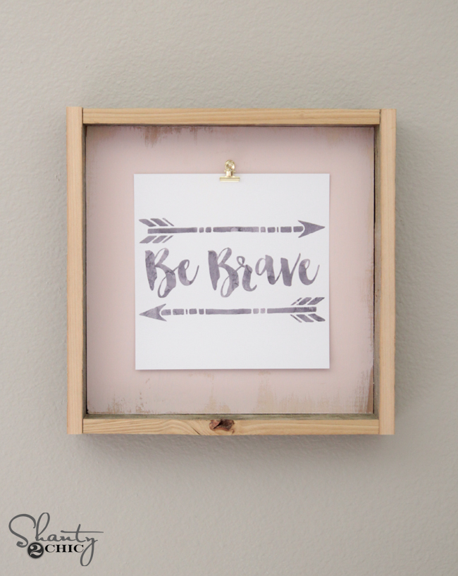 Diy Frame And Free Printable Shanty 2 Chic