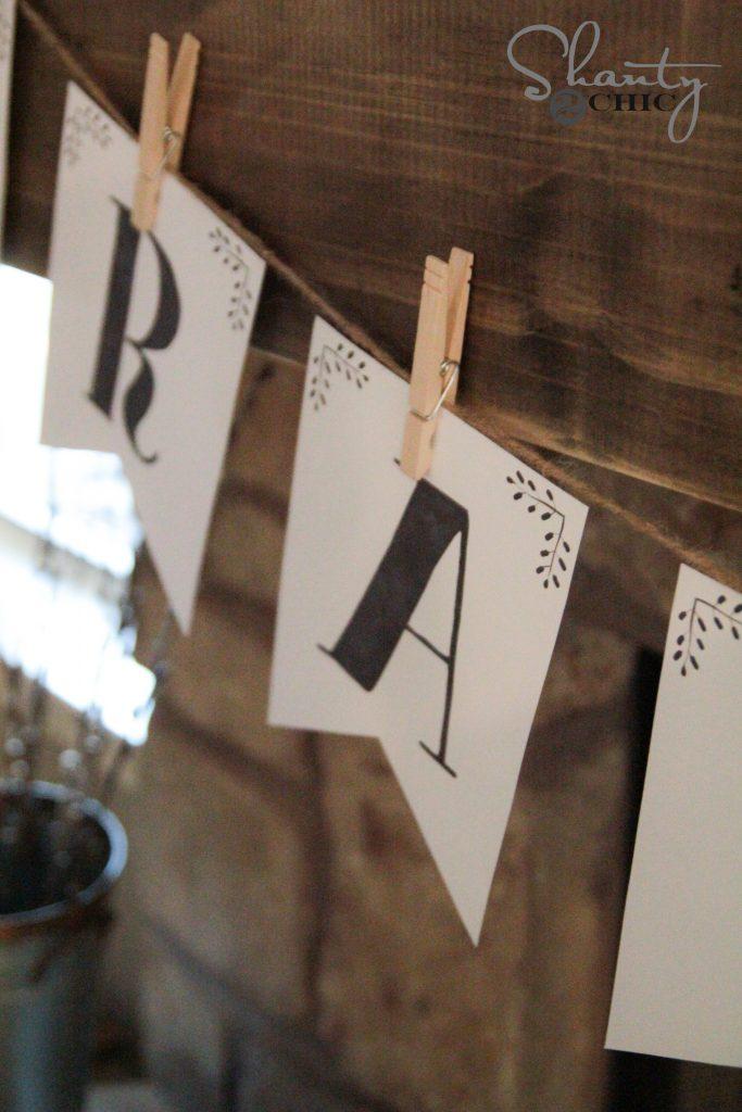 photograph regarding Printable Letter Banners known as Totally free Printable Letter Banners - Shanty 2 Stylish