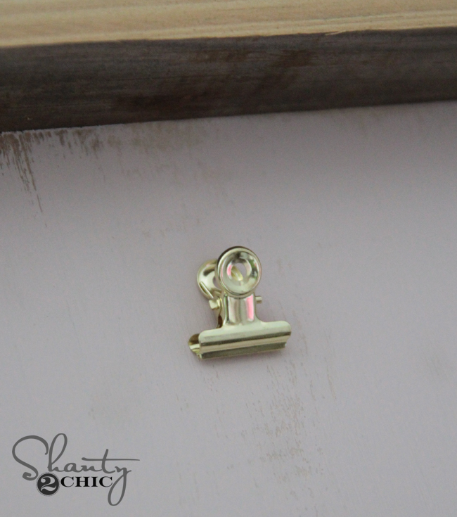Gold Bulldog Clips from Hobby Lobby