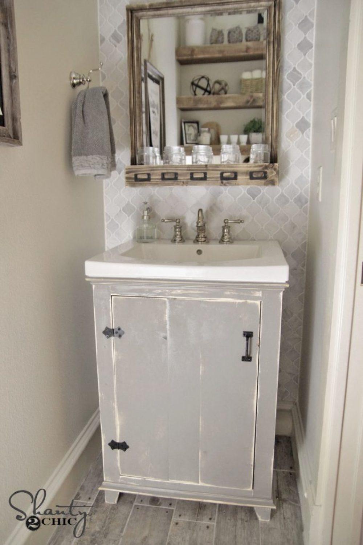 DIY Bathroom Vanity Shanty2Chic