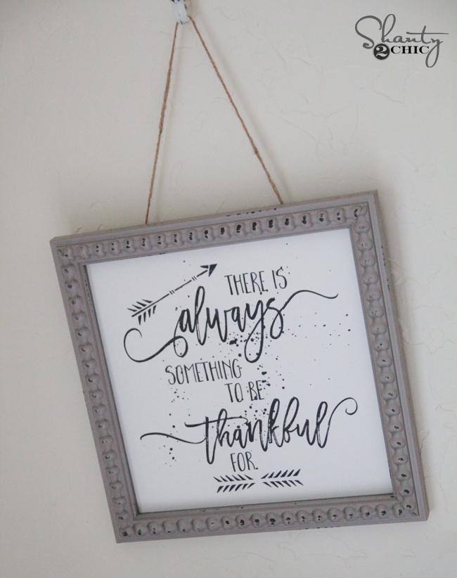 Free Thankful Printable Wall Art by Shanty2Chic