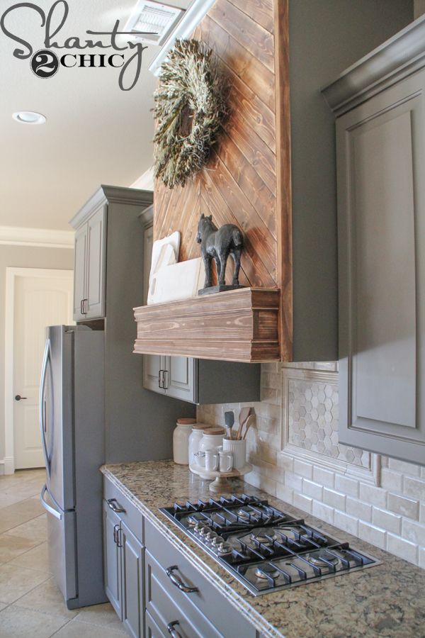 diy kitchen countertops milos wooden vent hood - shanty 2 chic