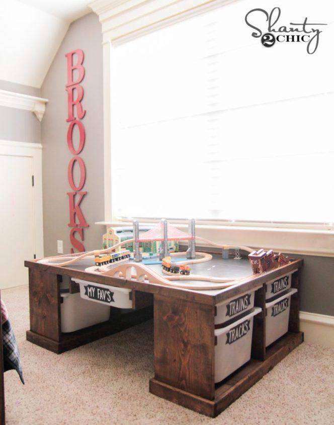 DIY Train or Lego Table by Shanty2Chic
